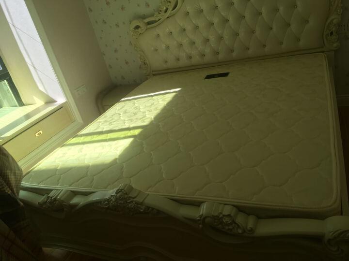 欧莲娜(ouliana) 床 欧式床 双人公主雕花婚床 1.8米 卧室皮床家具 实木骨条 皮床尾+床头柜*1+椰棕床垫*1(主流三件套) 1800*2000框架床 晒单图