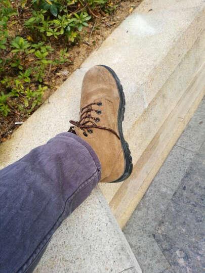 3515强人钢包头劳保鞋男鞋安全鞋高帮鞋防砸耐腐蚀鞋 G-09003 棕色 41 晒单图