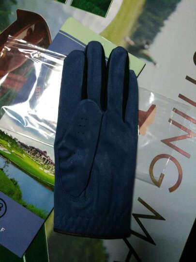 18TEE 高尔夫球手套 男士 深蓝色 夏季防滑透气布手套 22码 晒单图