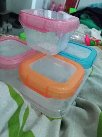 好伊贝(HOY BELL) 婴儿辅食盒零食盒宝宝奶粉盒便携保鲜冷藏盒密封盒收纳盒 120ML-4个装带底盘 晒单图