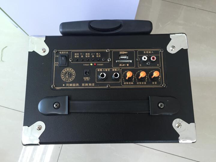 双诺声美 HJ-810 户外拉杆音响 扩音器音箱 广场舞大功率锂电 8英寸插卡移动便携音响 拉杆无麦 晒单图