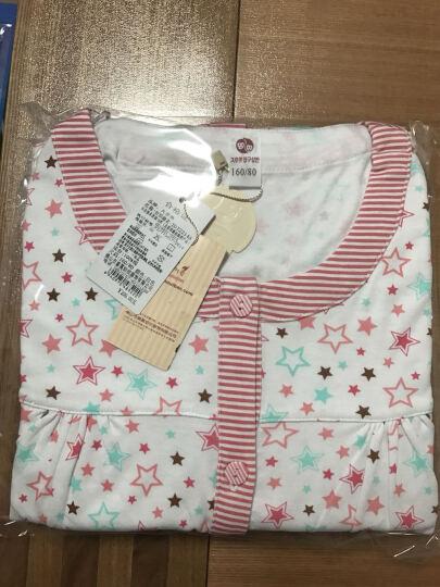 久岁伴棉质女童睡衣秋冬长袖儿童家居服套装2212 2212米白 170 晒单图