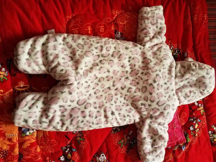 艾娜骑士豹纹婴儿衣服连体衣新生儿外出服宝宝棉服秋冬款加厚 卡其色 12-18个月 晒单图