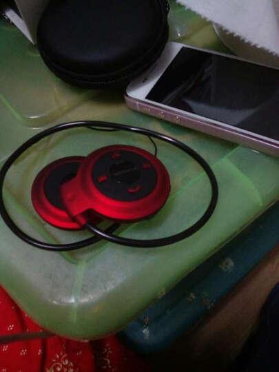 海狐狸(haihuli) 无线运动蓝牙耳机插卡MP3收音挂耳式头戴式重低音乐迷你双耳防水跑步手机通用 插卡蓝牙皮纹耳罩-白绿色+送16GG 晒单图
