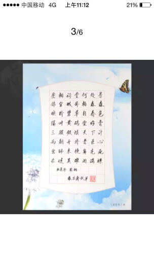 苏墨坊硬笔书法纸田字格钢笔练习作品创作纸学生卡通比赛用纸信笺A4套装T1 货号153 晒单图