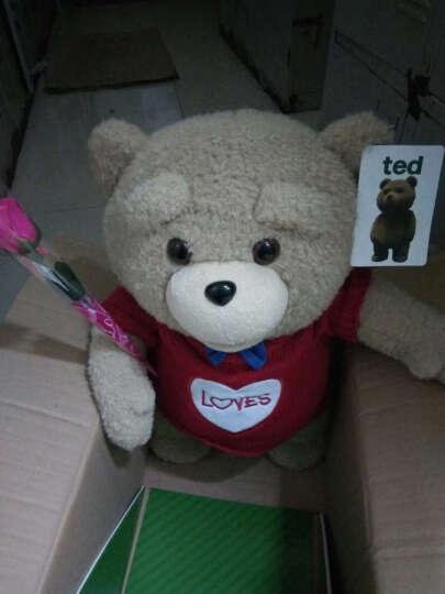 魔法龙  美国电影会说话的ted泰迪熊公仔抱枕布娃娃毛绒玩具熊抱抱熊大狗熊猫玩偶礼物 新款无声版红色毛衣款 60厘米熊+赠品套餐 晒单图