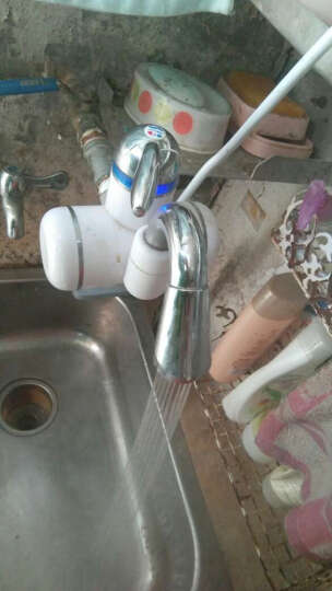 奥利尔(AOLIER) 电热水龙头 即热式电热水器 小厨宝 厨房热水宝过水热 速热电加热水龙头3kW 小弯管/侧进水(普通款) 带进水软管 晒单图