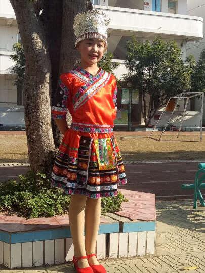 儿童苗族表演服服装女童高山族民族舞蹈舞台演出服土家族服饰 项圈 120cm(120cm建议身高115cm-125 晒单图