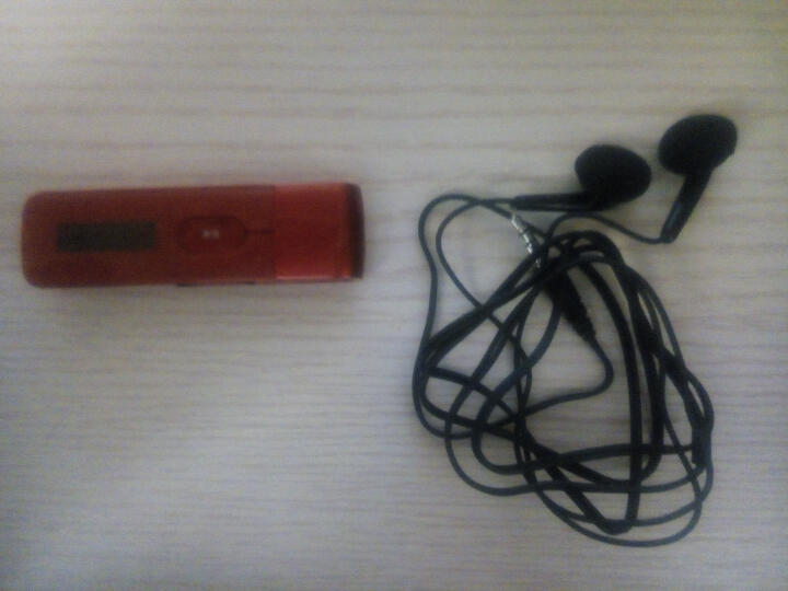 飞利浦(PHILIPS)SA5MXX04迷你MP3播放器学生英语 运动跑步随身听 直插式录音笔/U盘 红色+充电器 晒单图