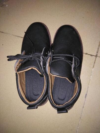 卢卡士 休闲鞋男鞋 男士大头皮鞋男 英伦厚底户外工装鞋学生板鞋 棉鞋Lxd032 蓝色加绒 40 晒单图