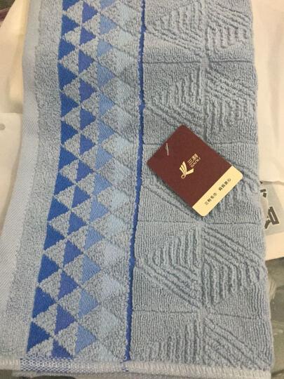 三利 纯棉三角元素提花毛巾3条装 34×74cm 混色组合 单条均独立包装 晒单图