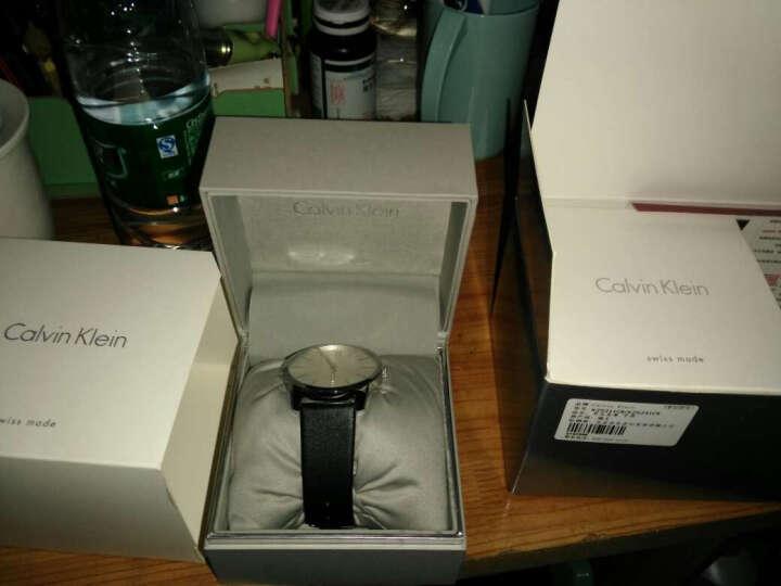CK卡文克莱(CalvinKlein)手表  LIGHT系列黑盘银色钢表带手镯式石英女表K6L2S111 晒单图