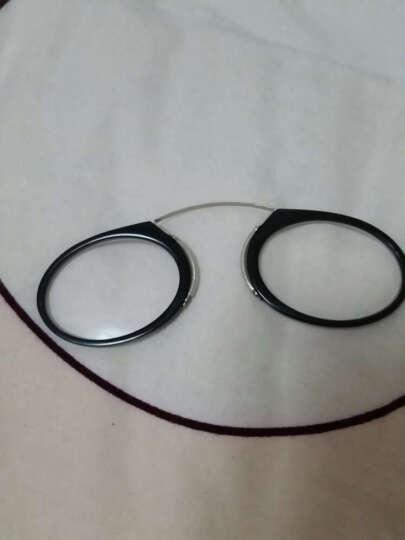 卡片式老花镜 男女时尚迷你老花眼镜可放钱包的超薄高清树脂花镜便携夹鼻眼镜无腿 绿色 300度 晒单图