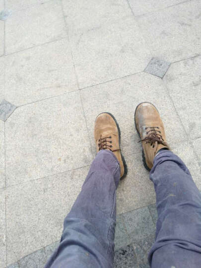 3515强人钢包头劳保鞋男鞋安全鞋高帮鞋防砸耐腐蚀鞋 G-09003 黄色 41 晒单图