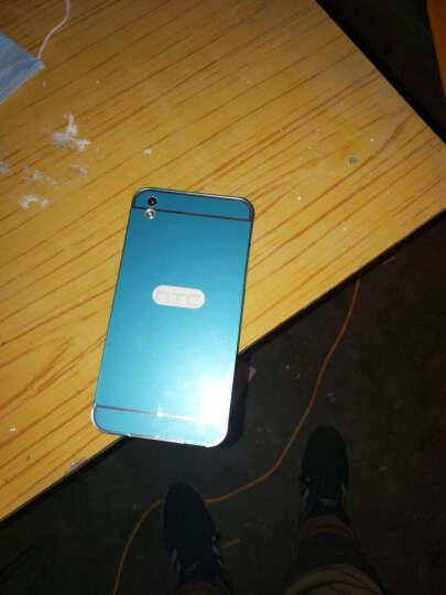 埃菲凡 金属边框手机保护套背板PC后盖外壳 适用于HTC 816/D816T 蓝色 晒单图