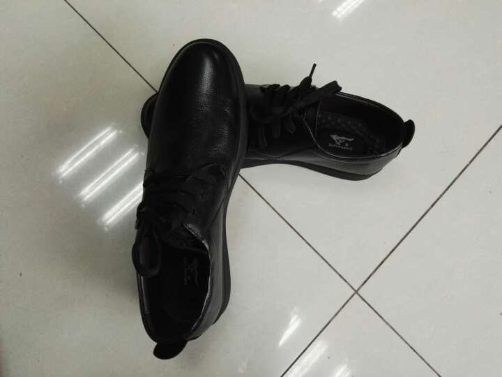 七匹狼(SEPTWOLVES)男士休闲板鞋低帮透气轻质系带网布鞋 黑色 40 晒单图