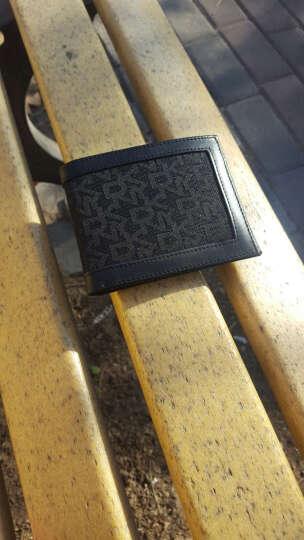 DKNY 唐娜·卡伦 男款黑色织物配皮LOGO印花短款钱包(配钥匙扣) BOXSET009 001 晒单图