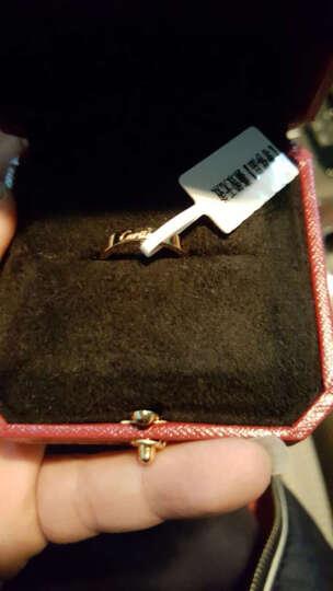 卡地亚cartier  结婚戒指无钻 18K玫瑰金戒指 女款版 55号 晒单图
