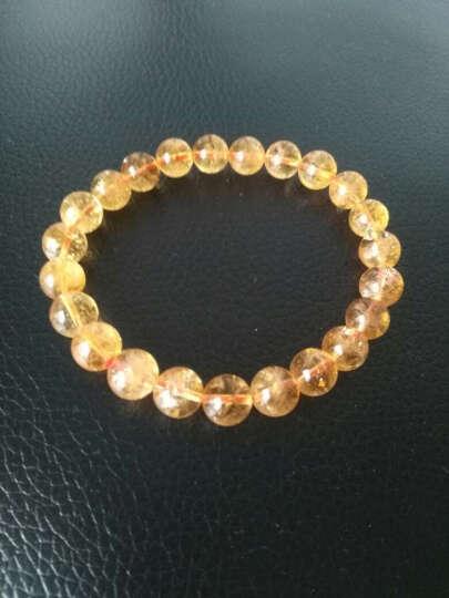 黄水晶手链 男女款  情侣款 蜜橘黄8毫米小巧女款 晒单图