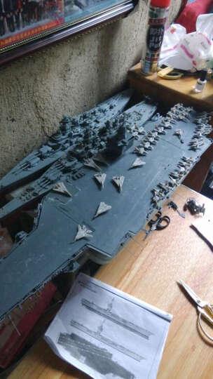 小号手尼米兹航母模型1/350企业号美国核动力航空母舰航空母舰80501 1/350瓦良格号+胶水 晒单图