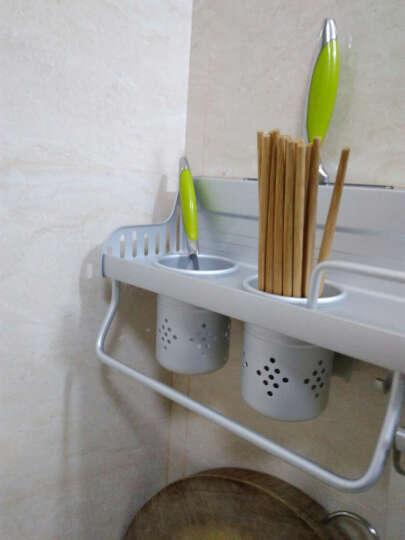 卡贝(cobbe) 太空铝厨房置物架壁挂收纳架筷子筒刀架调料架厨房用品 A1经典款40CM单杯 晒单图
