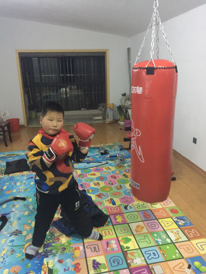 飞尔顿 帆布沙袋PU 沙包 立式实心拳击散打泰拳训练体育用品健身器材 不倒翁 实心红色PU沙包100CM 晒单图