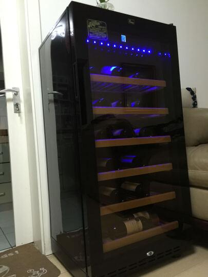 蒂朵(Diduo) JC-95E红酒柜恒温酒柜压缩机葡萄酒柜冰箱茶叶储藏保鲜冷藏柜子冰柜冰吧 黑色 晒单图