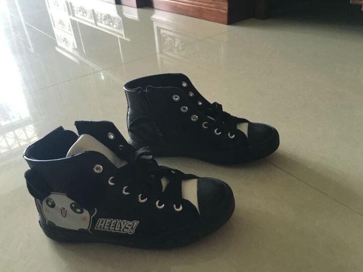 回力童鞋女童靴儿童棉鞋女童靴子儿童雪地靴高帮加绒棉鞋 黑色316 37码/内长22.5cm 晒单图