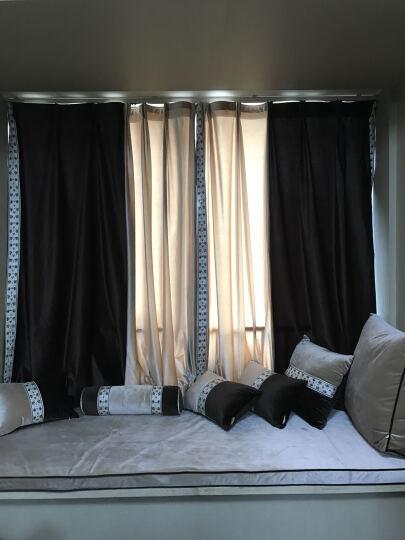 伊菲曼飘窗垫窗台垫子高密度实木沙发垫定做加厚榻榻米海绵坐垫夏季简约时尚现代定制意大利绒布料 黑撞米色 1米面料-2.8宽幅 晒单图
