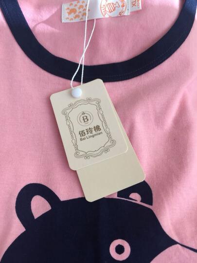 夏季睡衣女纯棉亲子装短袖短裤儿童内衣套装家居服 可爱猫款 女士XL码(身高171cm-179cm) 晒单图