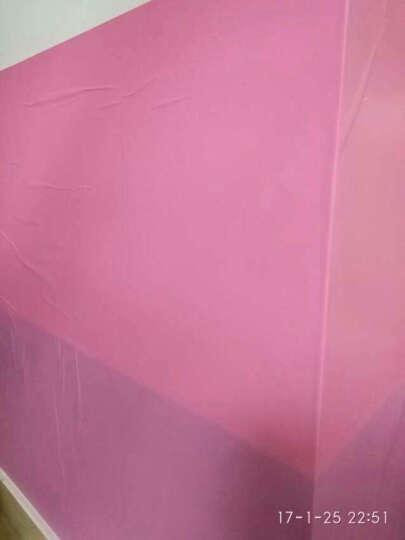 爱花 PVC自粘墙纸客厅卧室背胶壁纸纯色加厚磨砂即时贴家具翻新贴广告割字贴防油刻字贴 5598粉色 亚光面宽45CM*长10米 晒单图