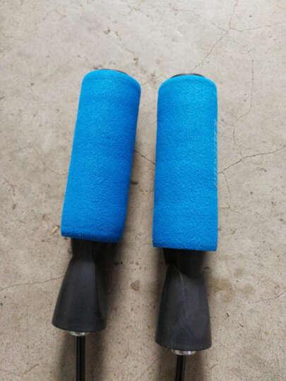 欧格森 专业轴承跳绳 可调节长度耐磨PU绳子 运动减肥健身器材 蓝色 晒单图