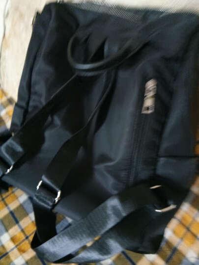 双肩包 2017新款女包韩版时尚PU皮两用背包女士旅行包包休闲书包潮 经典酒红色 晒单图