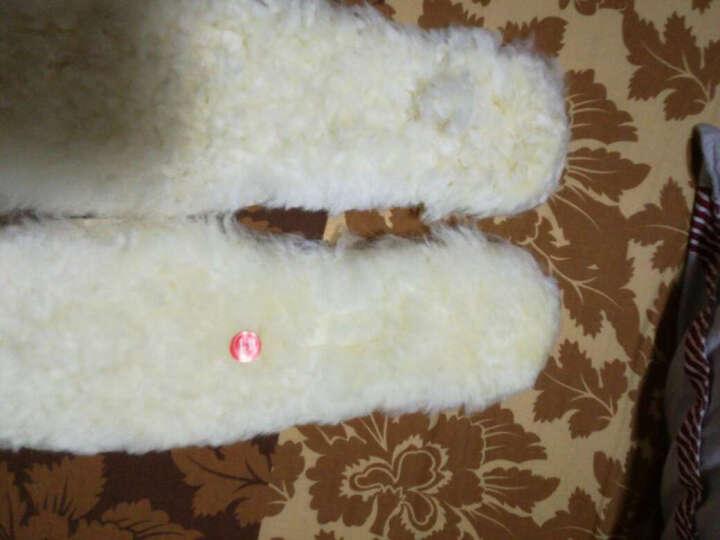 羊毛鞋垫羊皮毛一体加厚保暖男女雪地靴冬季毛绒棉鞋垫真羊毛 白色 42 晒单图