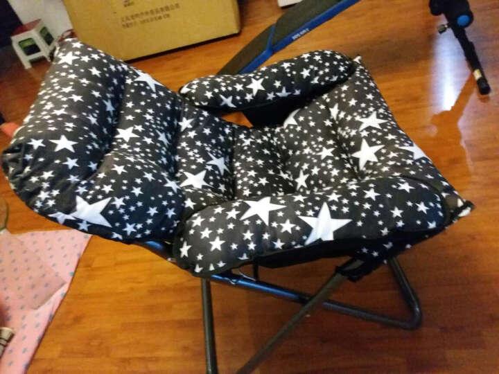 蒂利仕 豪华单人懒人沙发折叠椅子躺椅午休午睡椅办公室床休闲椅靠背椅子靠椅躺椅桌椅 豪华沙发椅 黑色星星款 晒单图