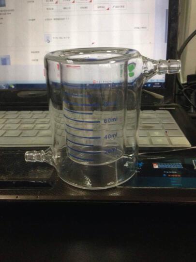 普瑞奇玻璃双层烧杯玻璃夹层夹套玻璃烧杯光催化反应器酶反应器 2000ml 晒单图