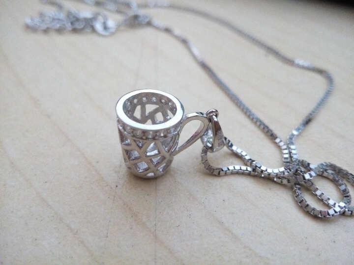 MILKLOVE 情侣项链925纯银一辈子情侣锁骨银项链女男款 杯子吊坠一对免费刻字 送女朋友礼物 爱一辈子项链女款 晒单图