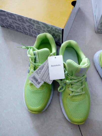 巴拉巴拉童鞋男童女童跑步鞋中大童鞋子儿童运动鞋跑鞋28403151501黄绿36 晒单图