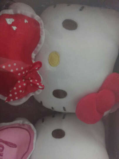 Hello kitty凯蒂猫 毛绒玩具 公仔玩偶布娃娃 抱枕靠垫生日礼物礼盒套装 7寸18厘米 粉色 KT1081-2 晒单图