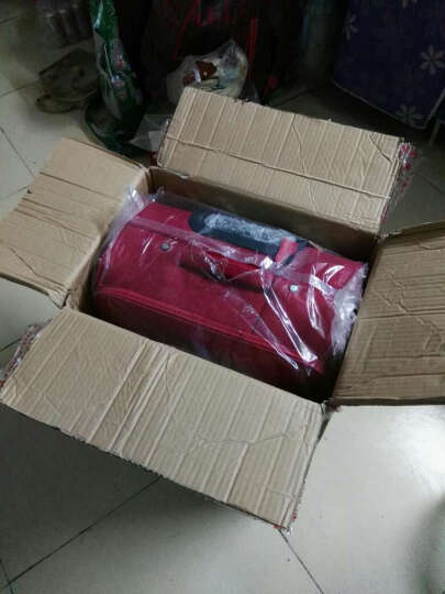 达派dapai拉杆箱女商务旅行箱行李箱万向轮登机箱大容量旅行拉杆箱飞机登机箱托运箱行李箱 红色 24寸 晒单图