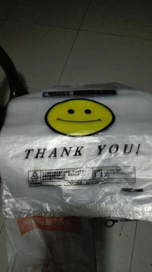 庄太太塑料袋透明笑脸手提塑料袋 背心食品方便购物打包装笑脸袋子定做订制logo 【大】3丝普厚45*68一捆90只 晒单图