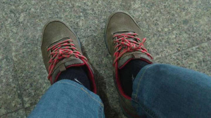 雪中飞户外(SNOWFLYING)2016秋真皮越野跑鞋低帮耐磨男鞋A1622YS021 (棕杏色)7079 41 晒单图