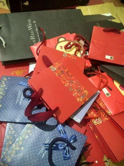 瑞迪斯【10个】手提红酒盒双支单支红酒袋红酒包装开窗酒盒折叠红酒盒子 红色 双支(10个) 晒单图