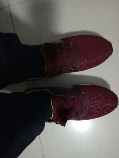 万西尼 秋冬新款 负跟鞋 男 女 腰椎保健鞋 倒走鞋 前高后低鞋 酒红色 38 晒单图