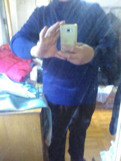 新款秋款男士高领针织衫线衣毛衣纯色 时尚男装XR204 深蓝色 XXXL 晒单图