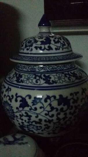 御雕坊 景德镇陶瓷器 仿古青花瓷山水画将军罐储物罐 新中式客厅装饰品摆件花瓶 款式八 晒单图
