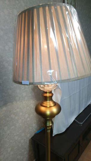 圣玛帝诺 欧式铜水晶落地灯 美式现代简约客厅地灯 中式立式创意时尚金色卧室书房落地台灯 晒单图