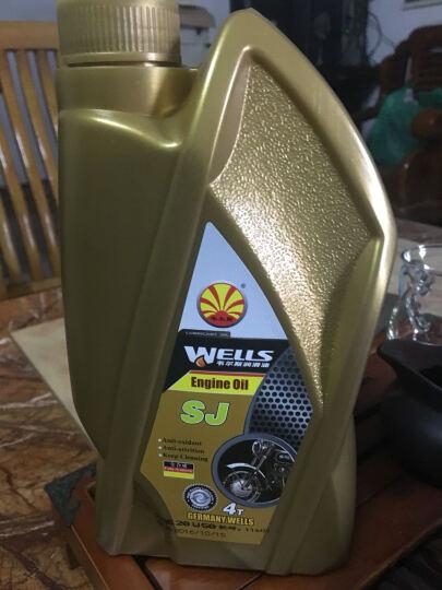 Wells韦尔斯润滑油 四冲程4T全合成摩托车机油 M500  SL级 1L 15W-40 晒单图