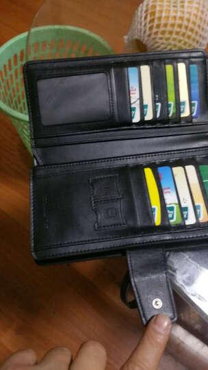 SXLLNS 钱包男士头层牛皮手包情侣包钱夹卡包商务长款多功能手拿包 6056 黑色 晒单图