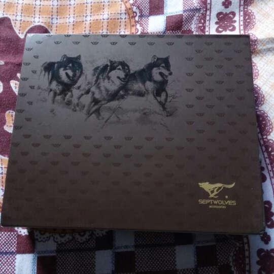 七匹狼(SEPTWOLVES) 男士腰带礼盒 钱包+男士皮带时尚简约套装L7323 黑色 晒单图